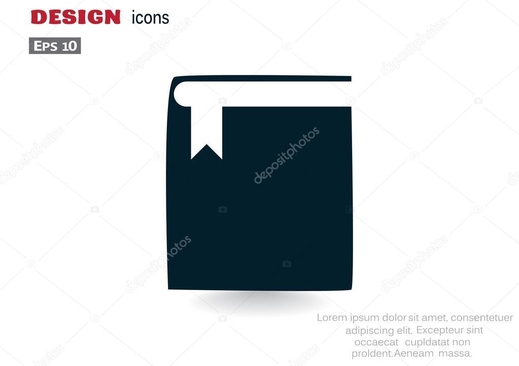 Closed book web icon — Stock Vector © LovArt #115894888