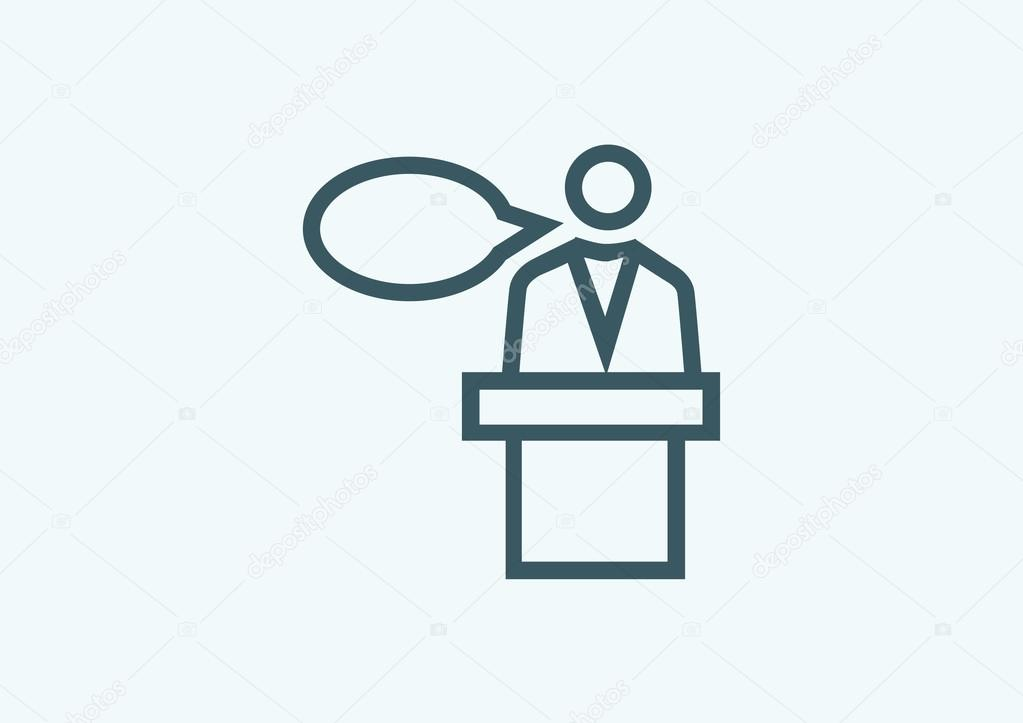 silhouette of speaker icon