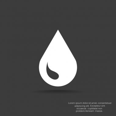 Liquid droplet simple web icon