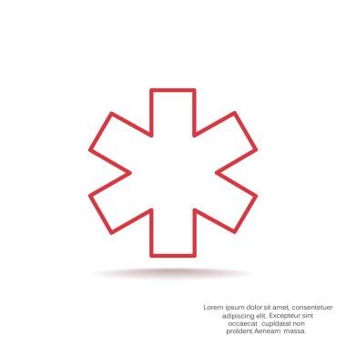 Medicine symbol simple web icon