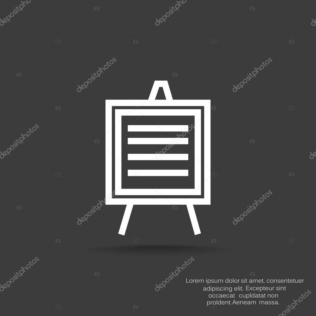 informational board icon � stock vector 169 lovart 118628454