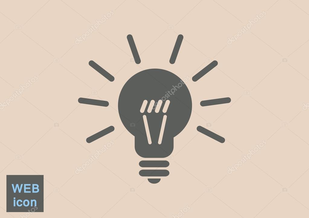 Glühbirne-Web-Symbol — Stockvektor © LovArt #118629076