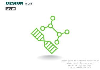 DNA genetics web icon