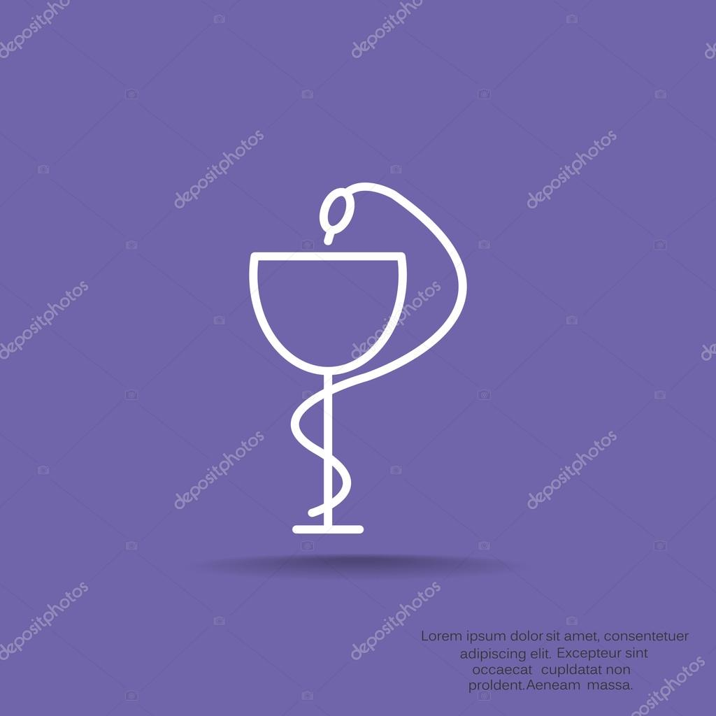 Pharmacy Symbol With Snake And Cup Stock Vector Lovart 118680356