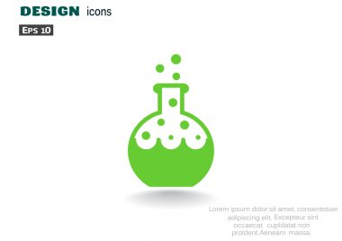 Chemical reaction in flask icon