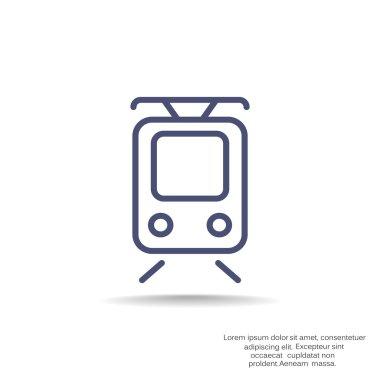 Simple tram icon