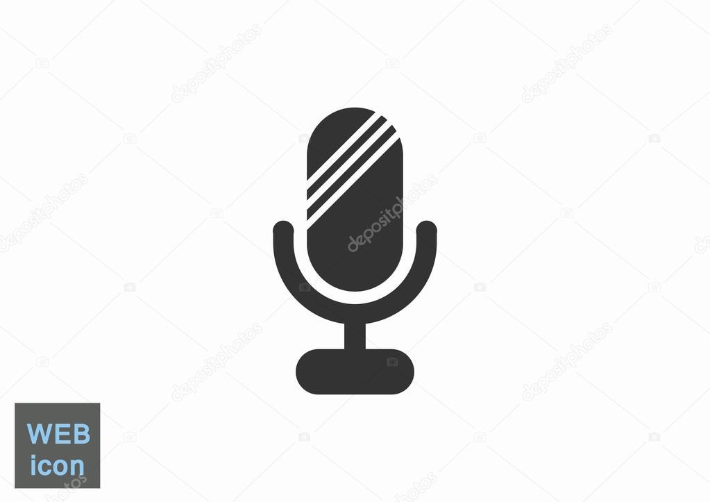 Einfache Web-Mikrofonsymbol — Stockvektor © LovArt #122321610