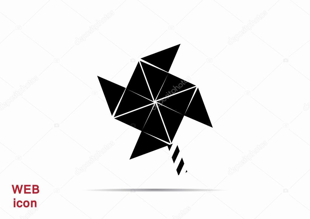 Wind-Generator-Symbol — Stockvektor © LovArt #122332970