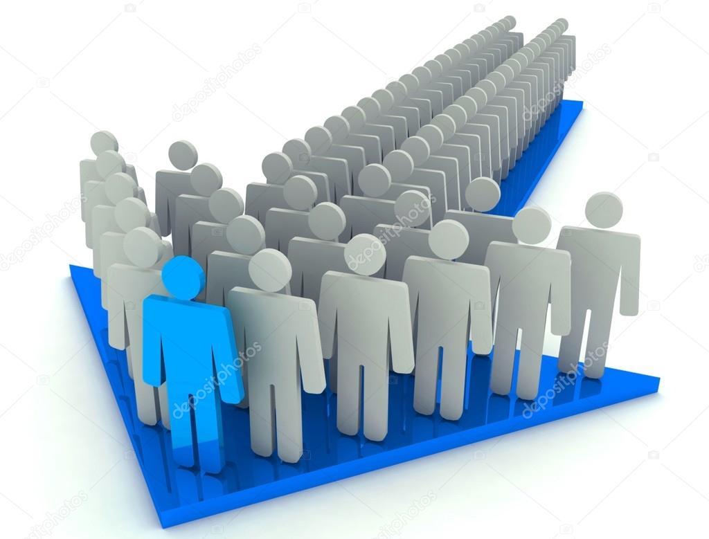 croud of people and leader on arrow stock photo lovart 65670927
