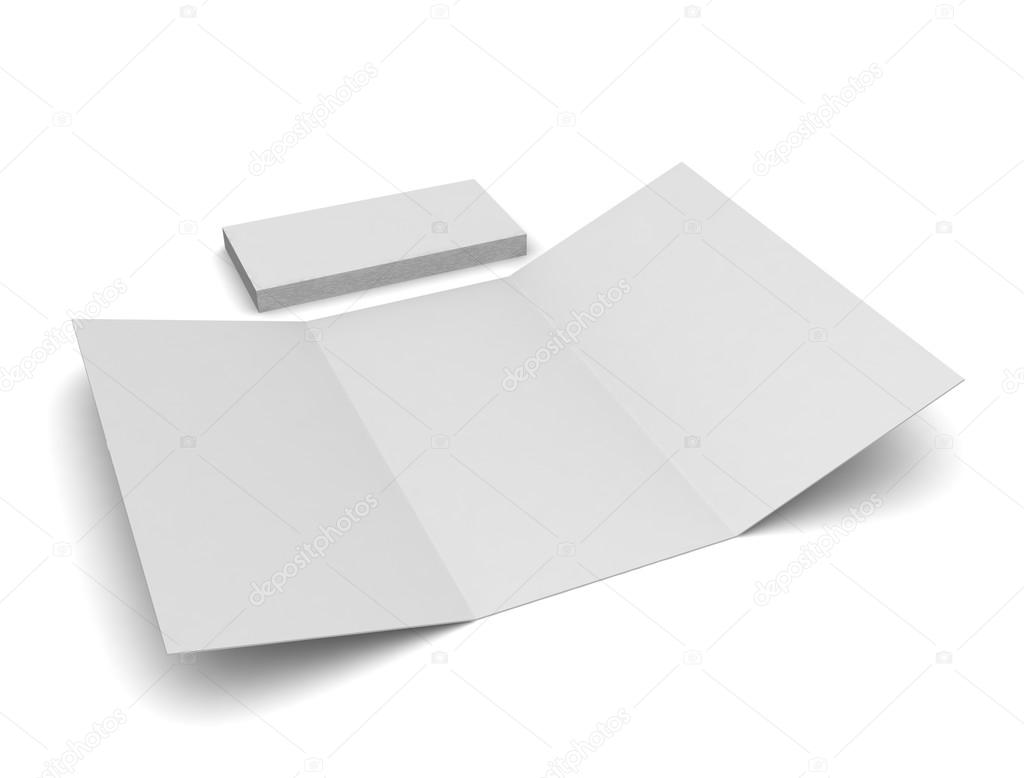 blank tri fold brochure stock photo lovart 65688487