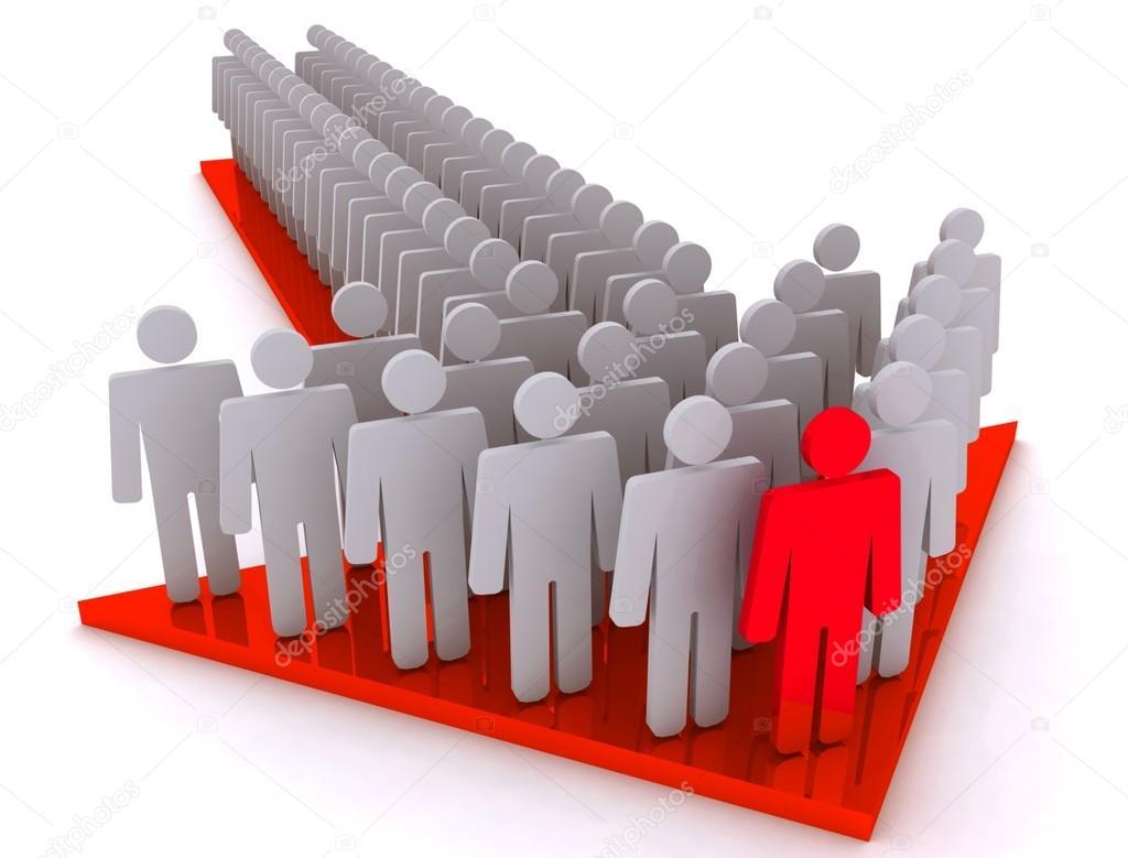 croud of people and leader on arrow stock photo lovart 65774887