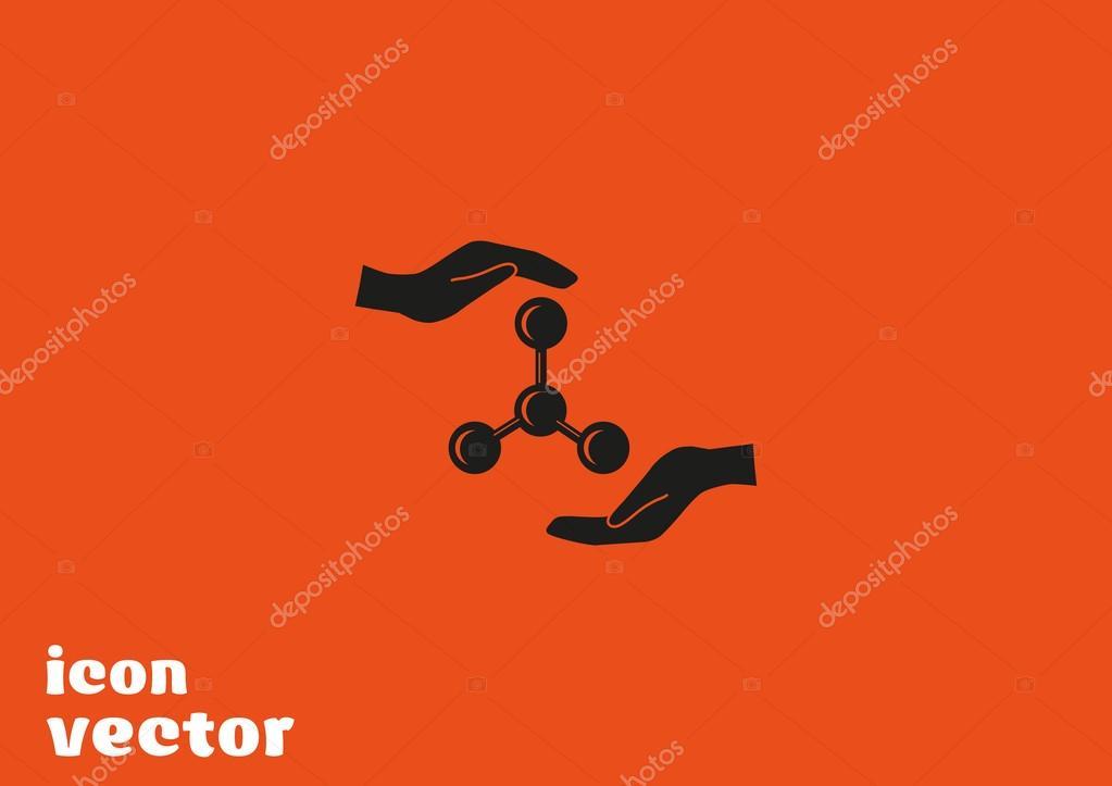 Molekulare Verbindung Symbol — Stockvektor © LovArt #65794401