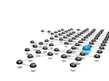 Illustration of Leadership made of balls