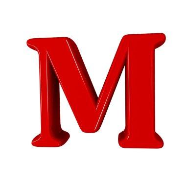 Single M alphabet letter