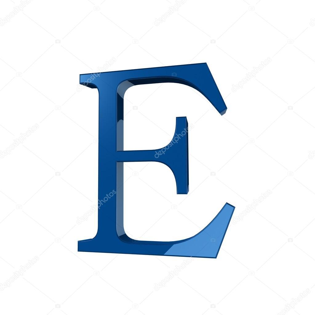 Single E Alphabet Letter Stock Photo Lovart 66404381