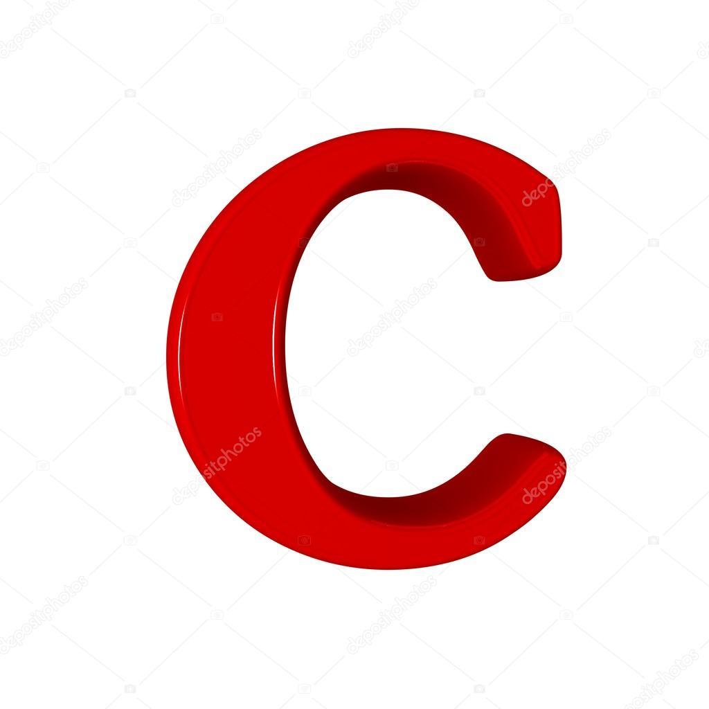 Single C Alphabet Letter  Stock Photo  Lovart