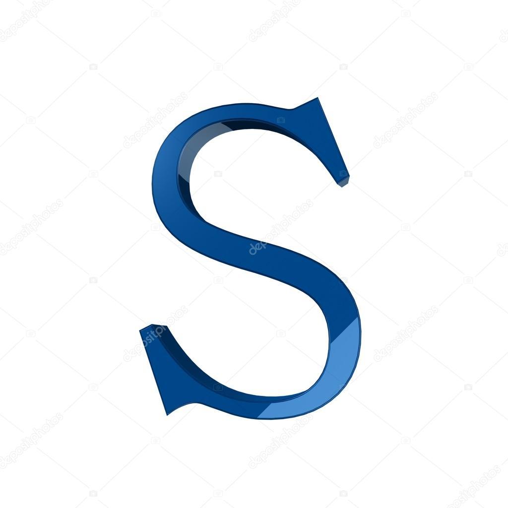 Single S Alphabet Letter Stock Photo Lovart 66404429