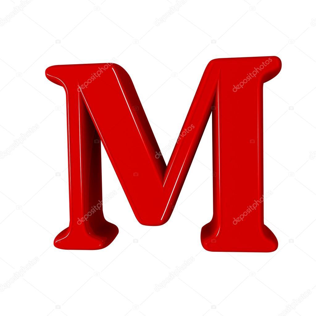 Single m alphabet letter stock photo lovart 66404495 3d letter m one letter alphabet isolated on white design concept photo by lovart thecheapjerseys Images