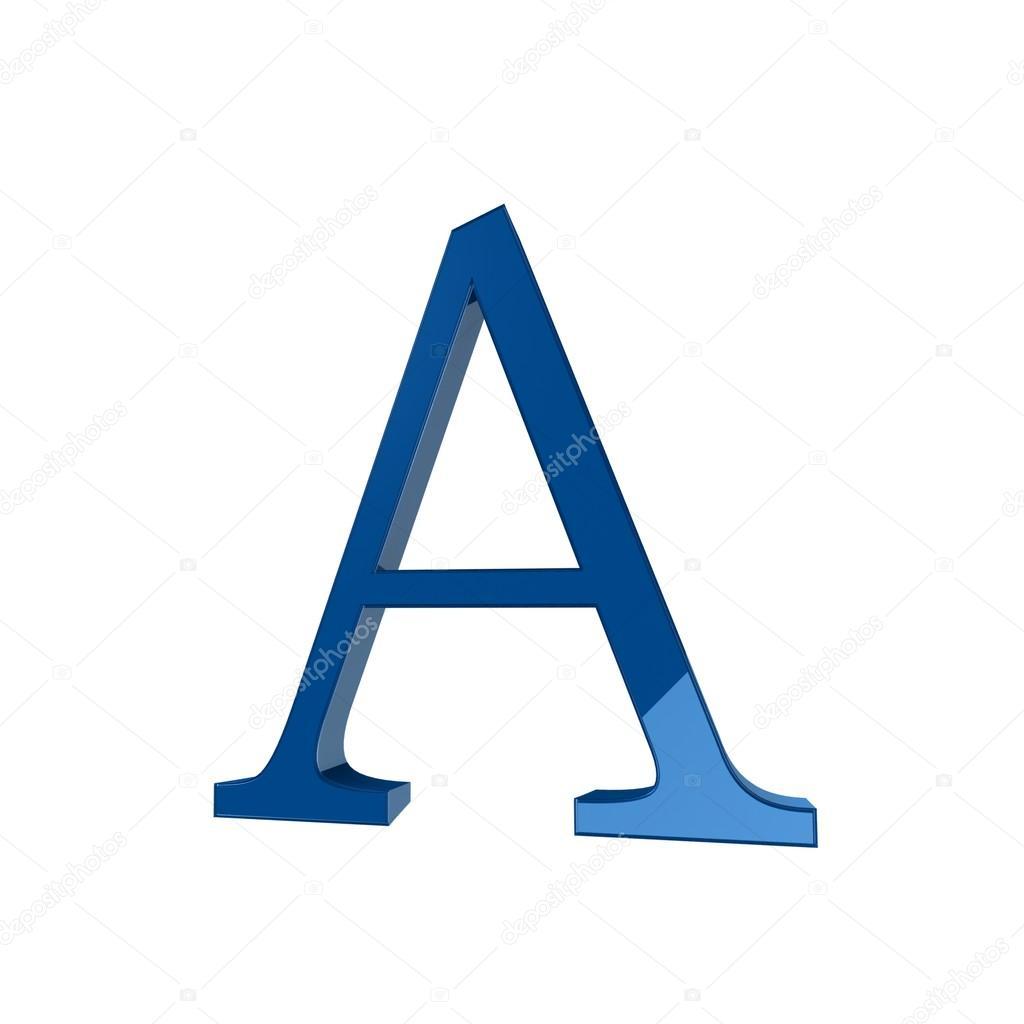 Single A Alphabet Letter Stock Photo Lovart 66404549