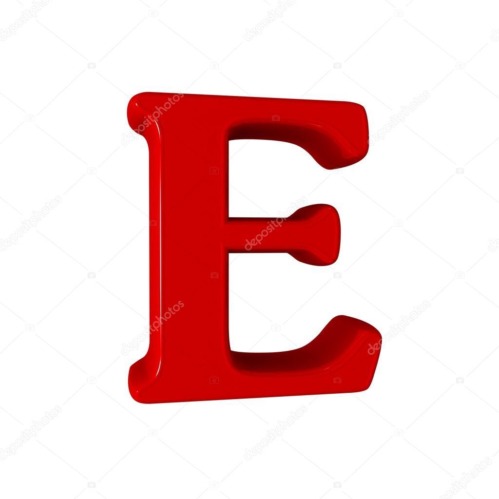 Single e alphabet letter stock photo lovart 66404731 3d letter e one letter alphabet isolated on white design concept photo by lovart altavistaventures Images