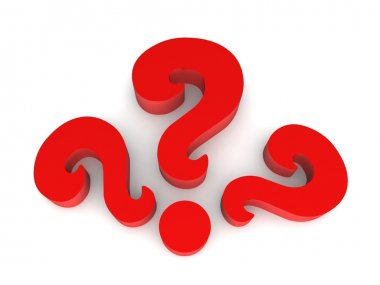 Red Question marks