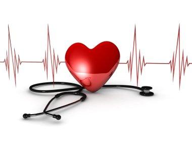 Heart treatment on white