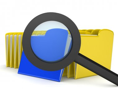 magnify glass on a search document
