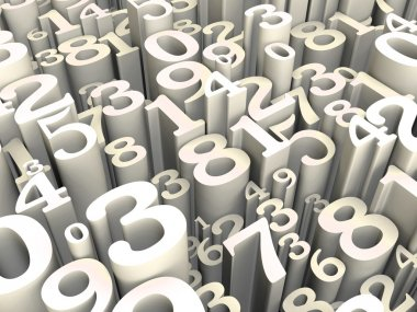 numbers 3d background