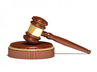 Judge gavel and sound block