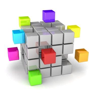 Composite silver cube
