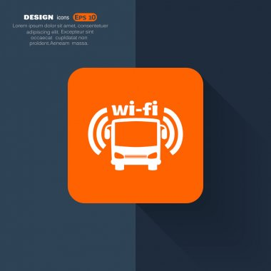 Bus wi-fi icon