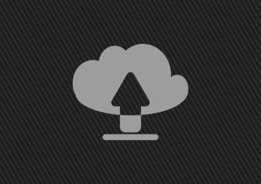 Cloud file uploads web icon