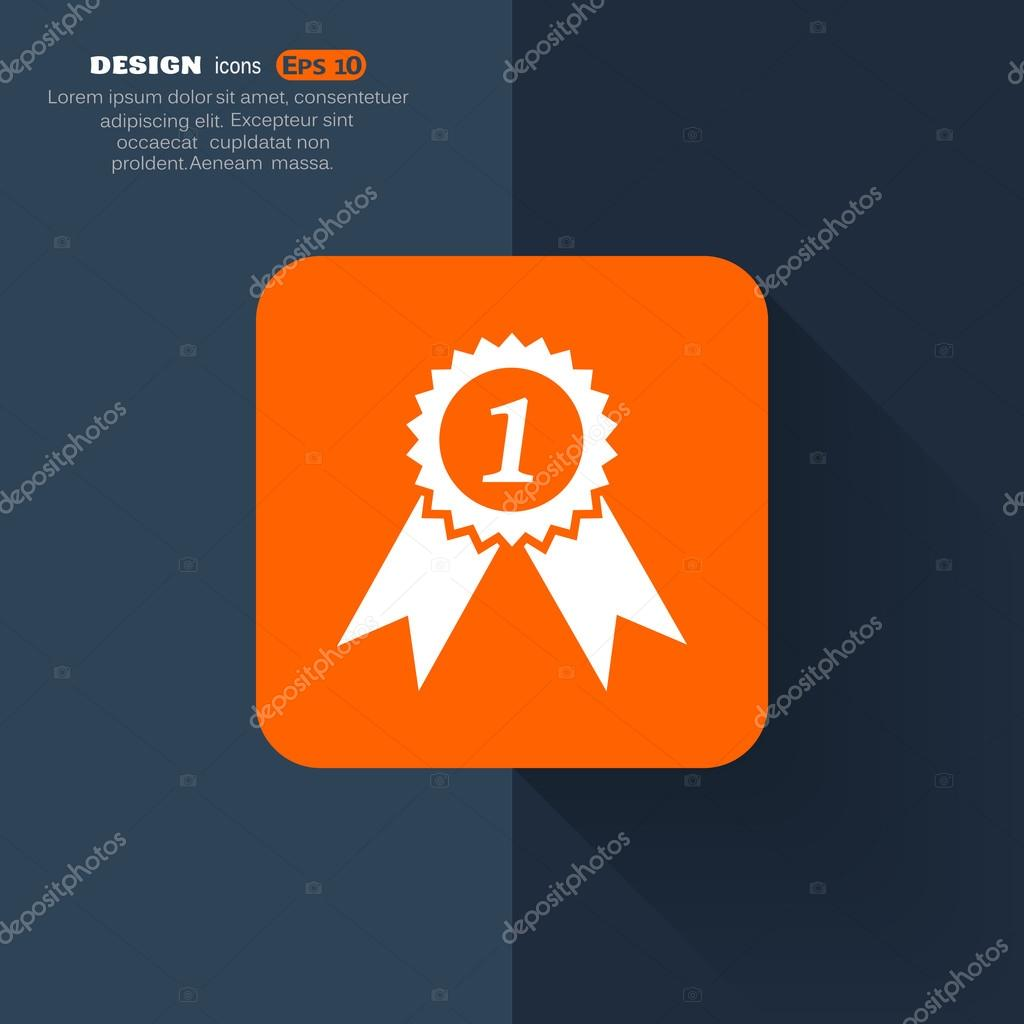 Medal for first place icon — Stock Vector © LovArt #66720483