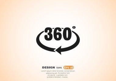 360 degrees web icon