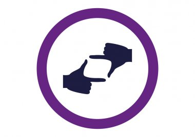 hand lens, web icon