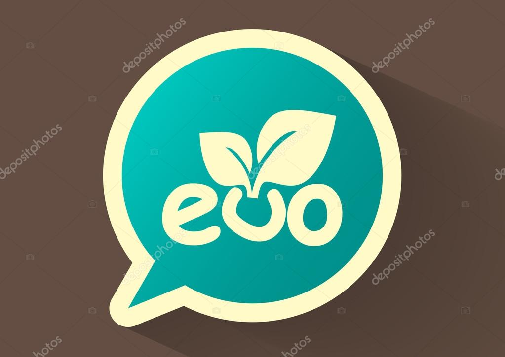 Sprout eco sign, web icon.