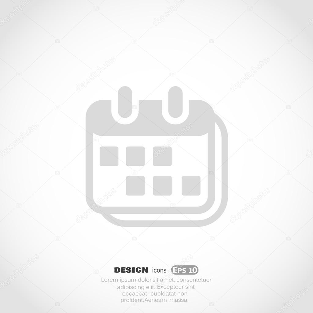 Calendario Vector Blanco.White Calendar Icon Stock Vector C Lovart 67908493