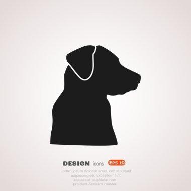 Dog, web icon.