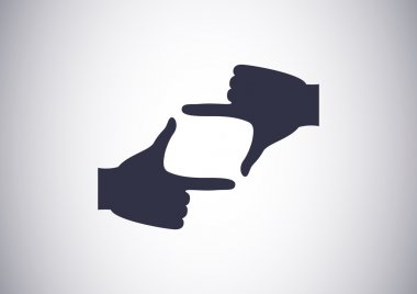 Hand lens, web icon.