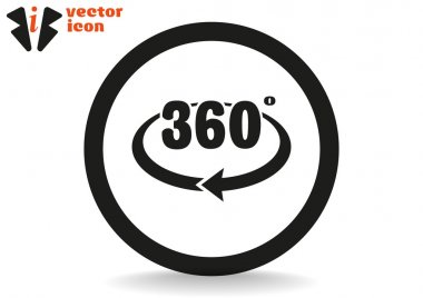 360 degree grey icon