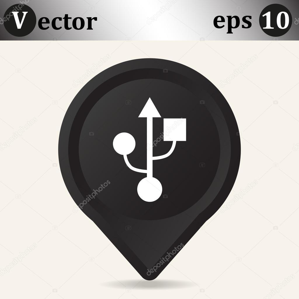 Symbol-Verbindung auf schwarzen Zeiger — Stockvektor © LovArt #68006479