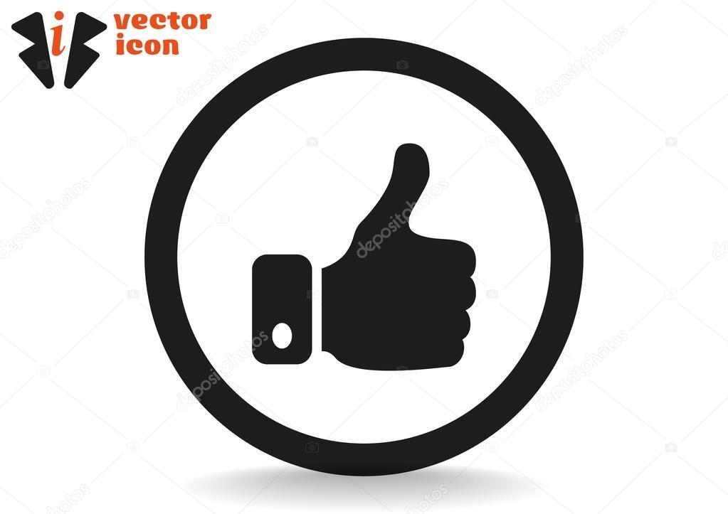 Good Symbol In Black Circle Stockvector Lovart 68015179