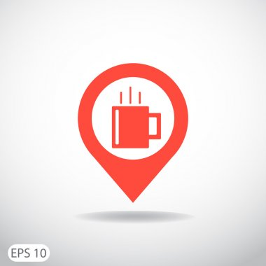 Cup of hot drink web icon