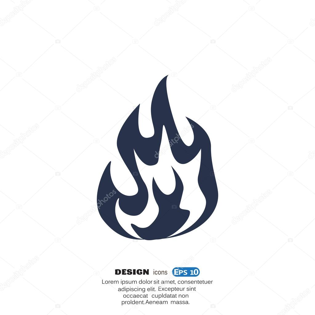 Fire flames web icon