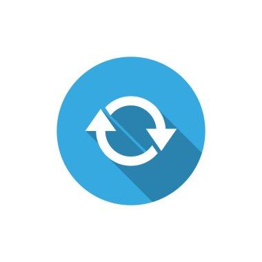 Circle with arrows web icon