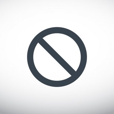 prohibition sign, web icon.