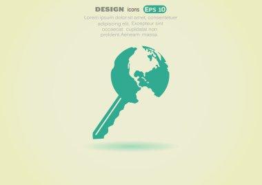 Globe key icon