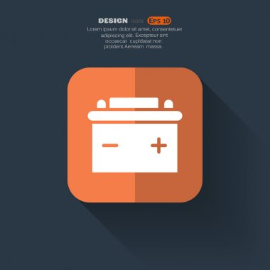 Simple car battery web icon