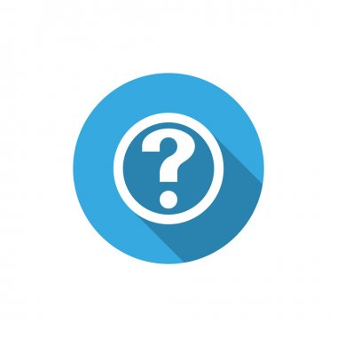 Question mark in circle web icon