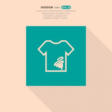 Dirty t-shirt icon